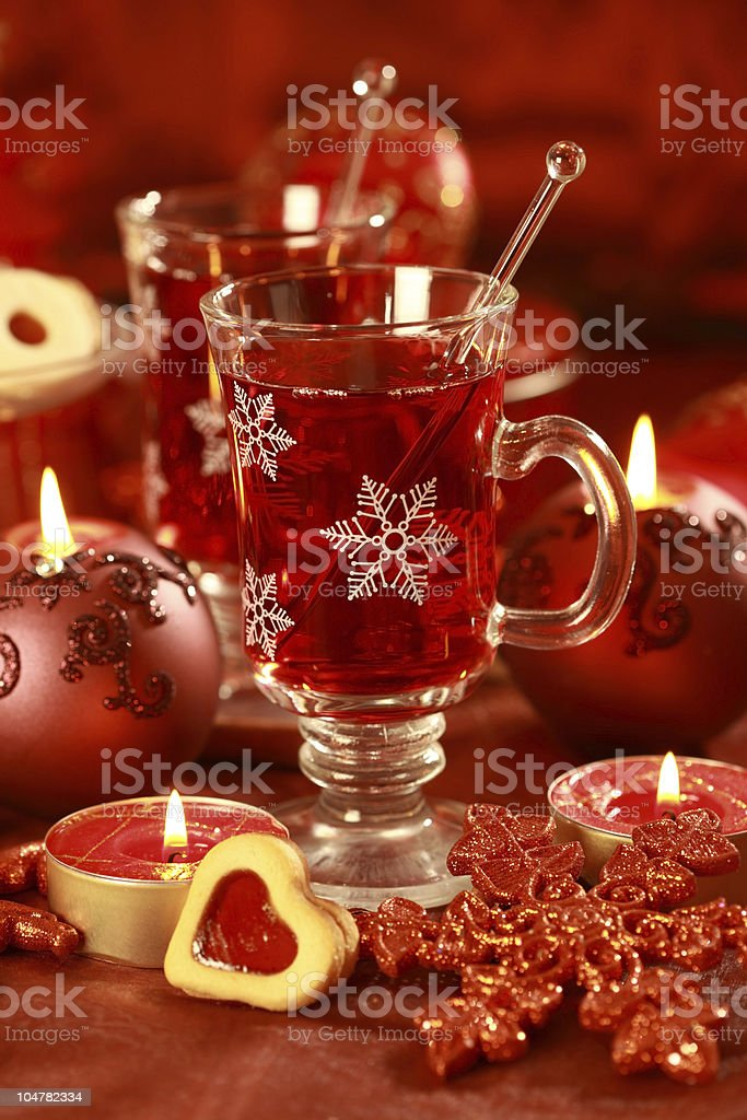 Hot drink for winter and Christmas stock photo