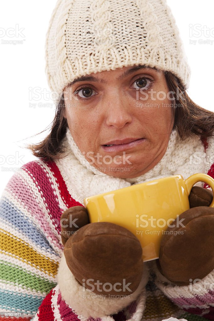 Hot drink in a cold day royalty-free stock photo