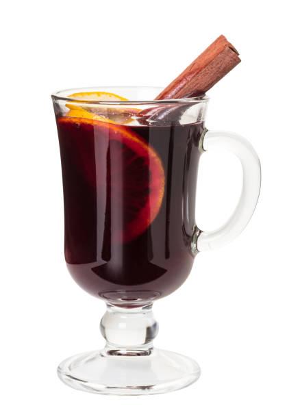 sıcak bir içecek şarap mulled - glühwein stok fotoğraflar ve resimler
