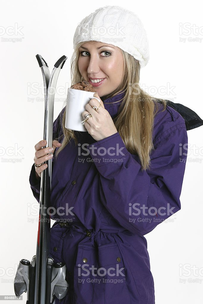 Hot drink on a cold day stock photo