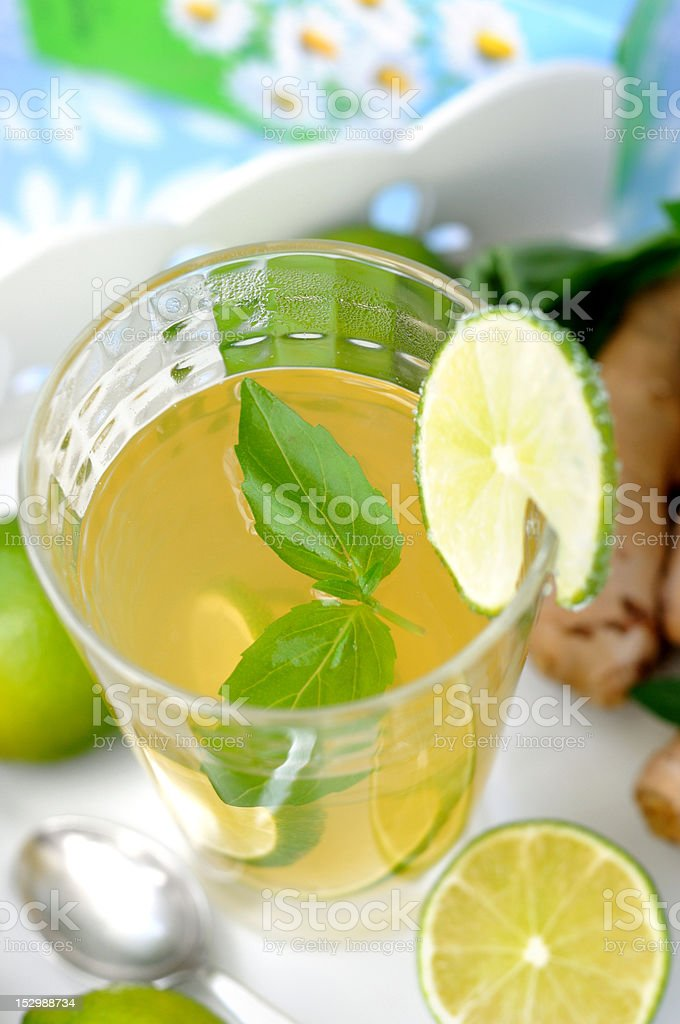 Hot drink to cure cold stock photo