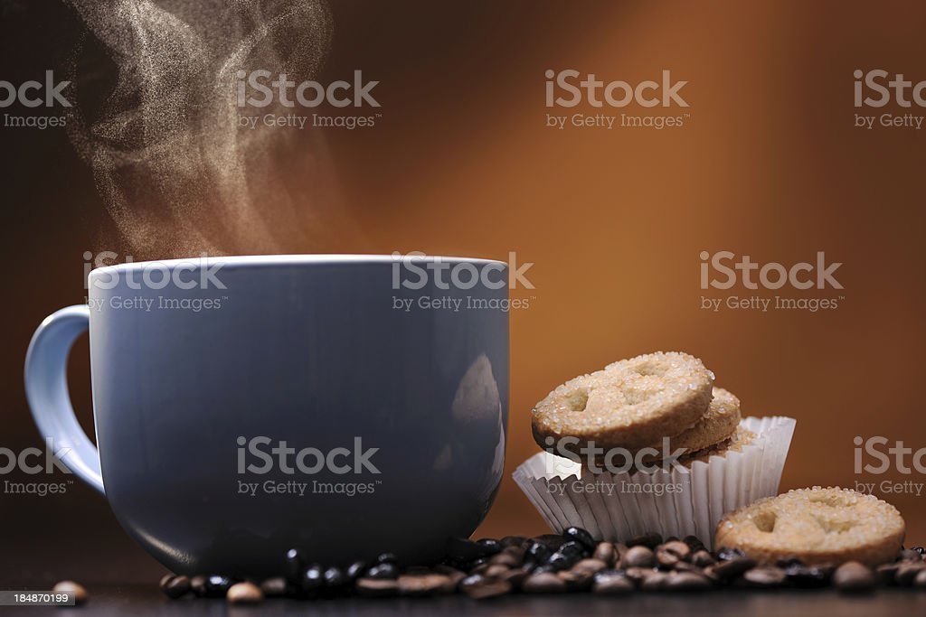 Hot drink with steam royalty-free stock photo