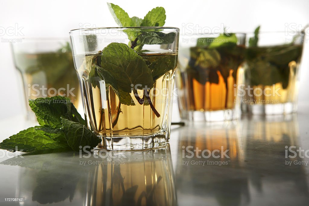 Hot Drinks: Middle Eastern Mint Tea Still Life royalty-free stock photo