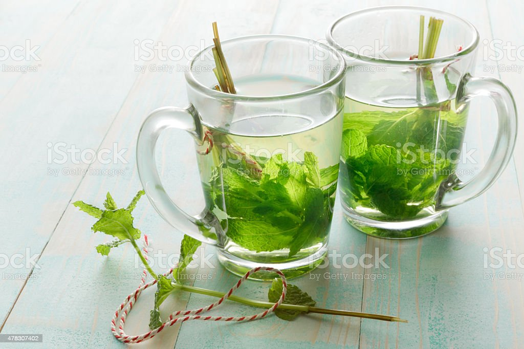 Hot Drinks: Mint Tea stock photo