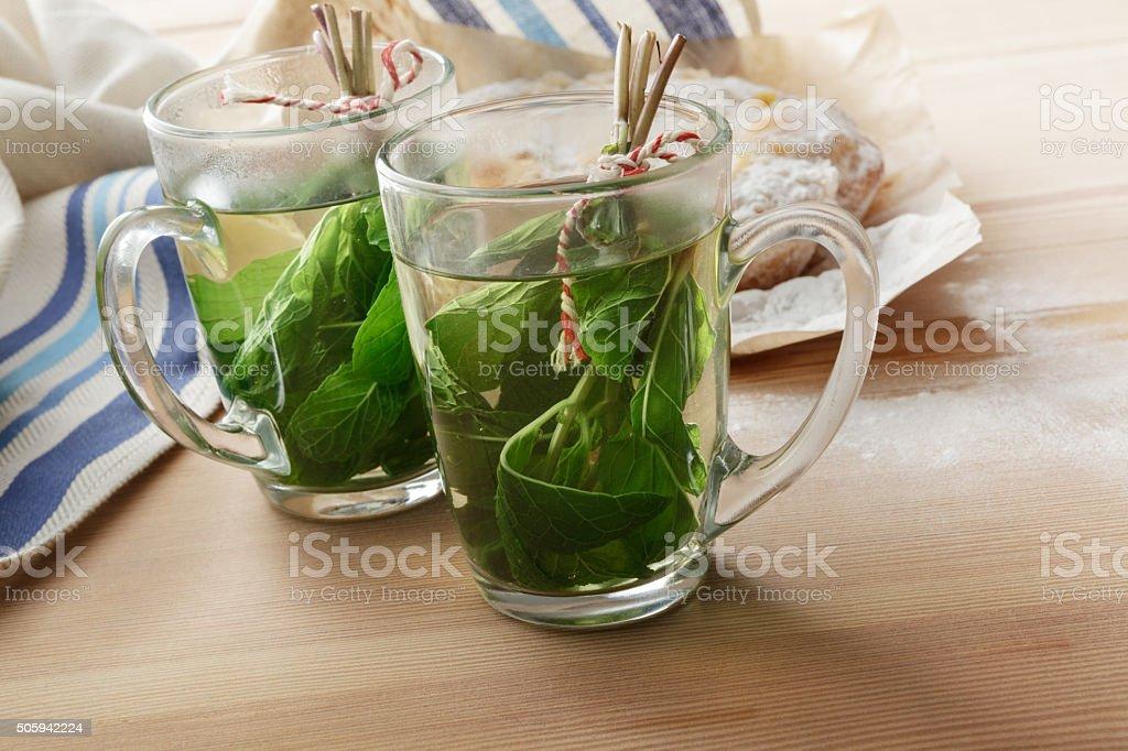 Hot Drinks: Mint Tea stock photo