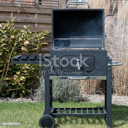istock Hot Empty Charcoal BBQ Grill 944962534