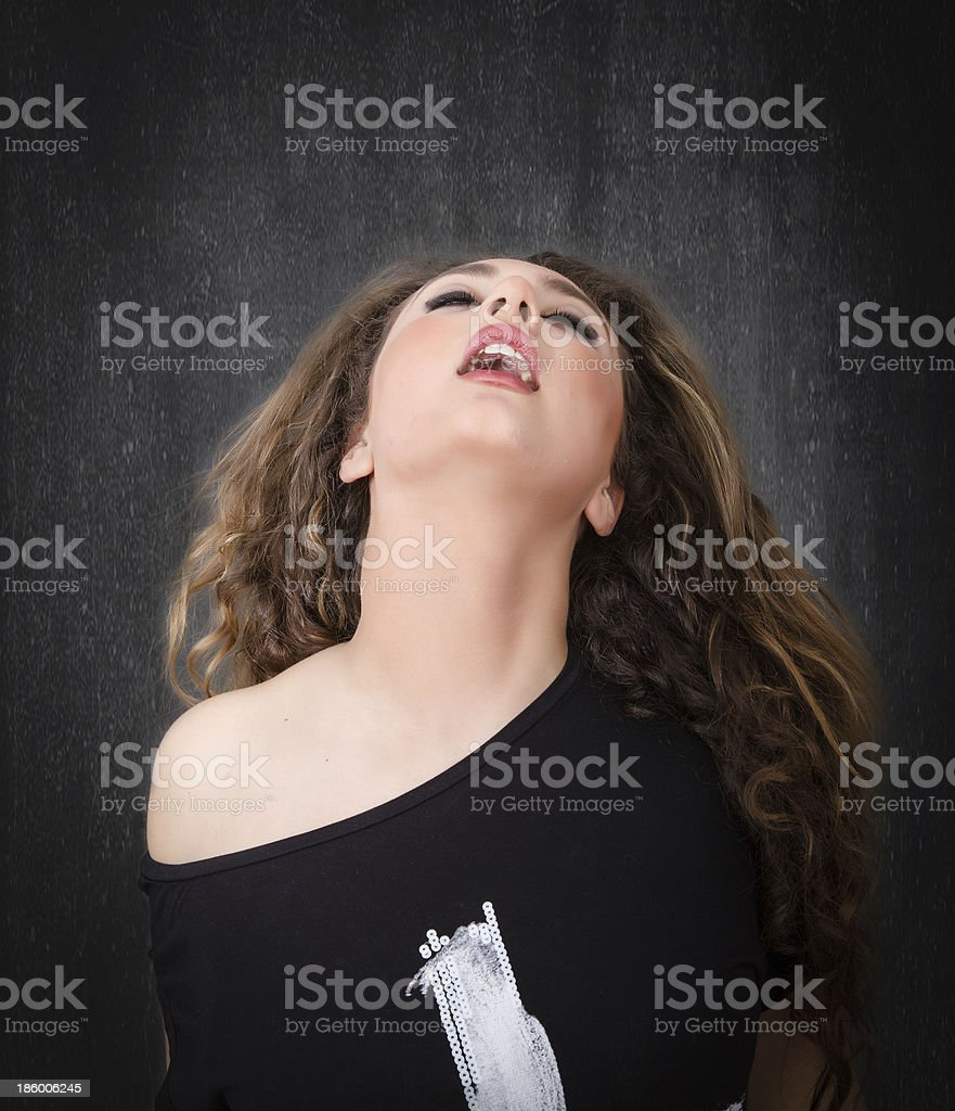 hot expression for a nice woman stock photo