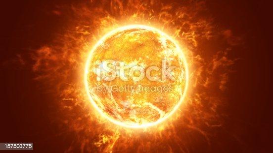 istock Hot Fiery Sun 157503775