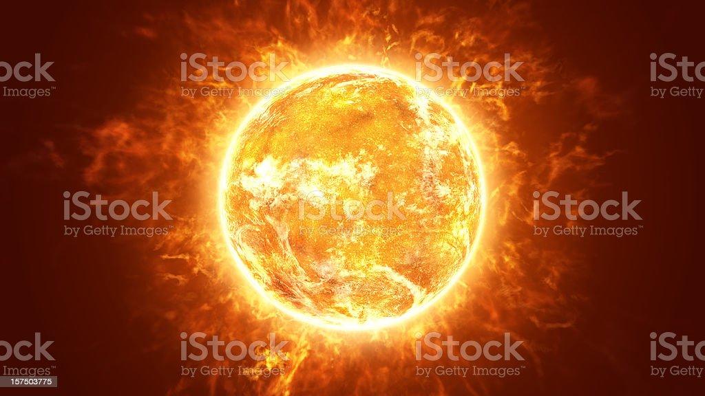Hot Fiery Sun stock photo
