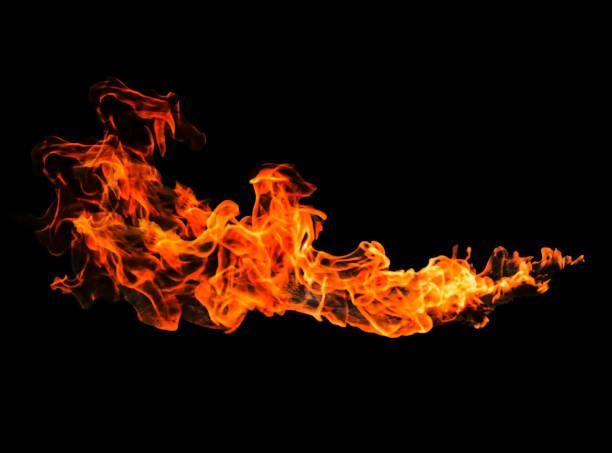 hot fire ball auf schwarzem hintergrund für retusche oder dekorieren sie ihr foto - feuerkugel stock-fotos und bilder