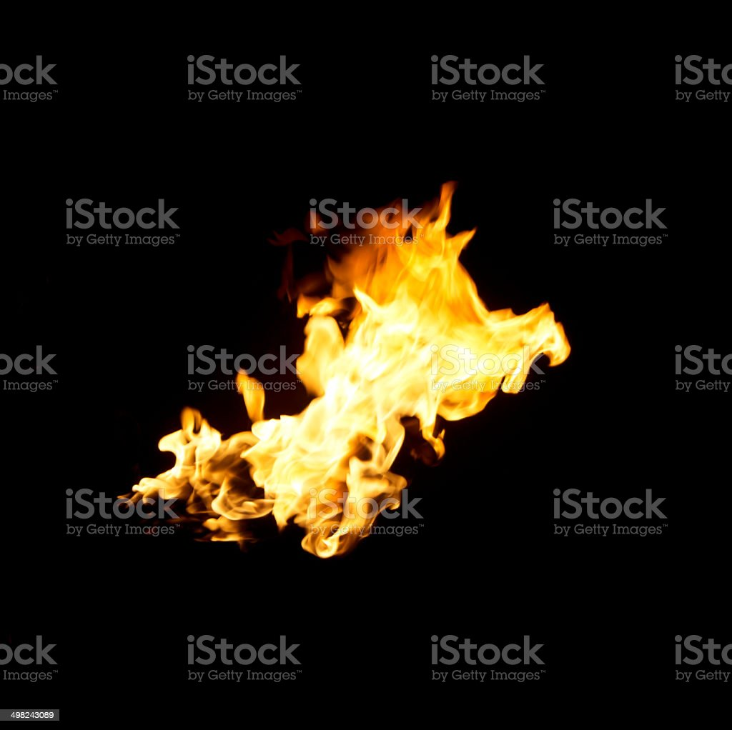Hot fires flame in motion stock photo