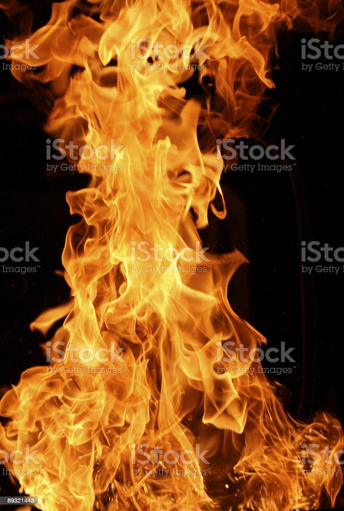 Hot Flames royalty-free stock photo