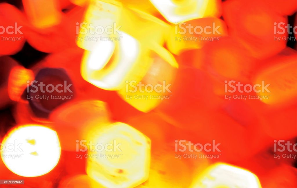 hot forging nuts stock photo