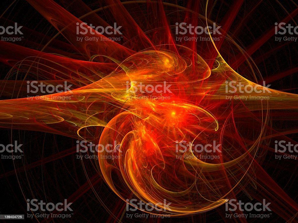 hot fractal royalty-free stock photo
