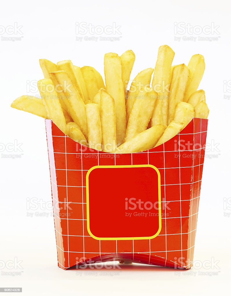hot French Fries royalty-free stock photo