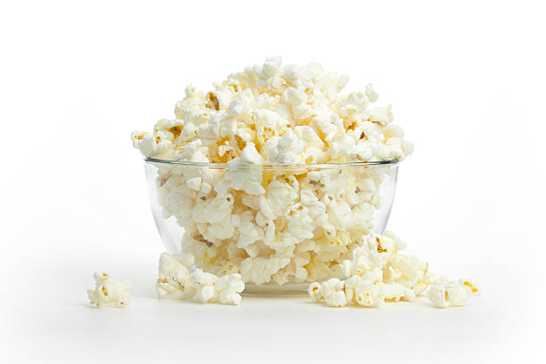 Hot, Fresh Popcorn stock photo