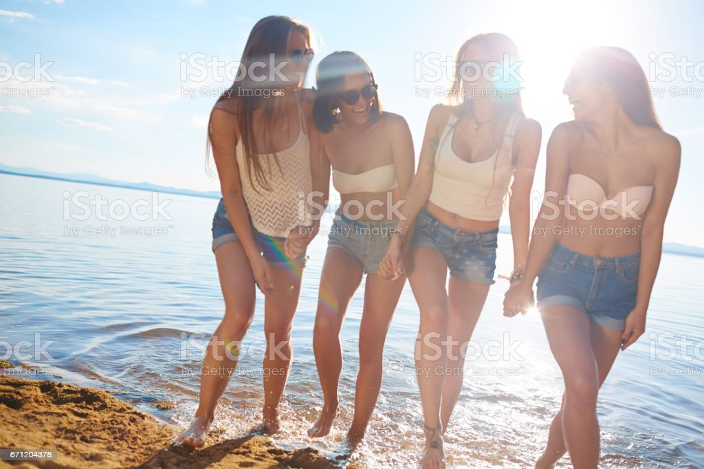 Hot girls stock photo