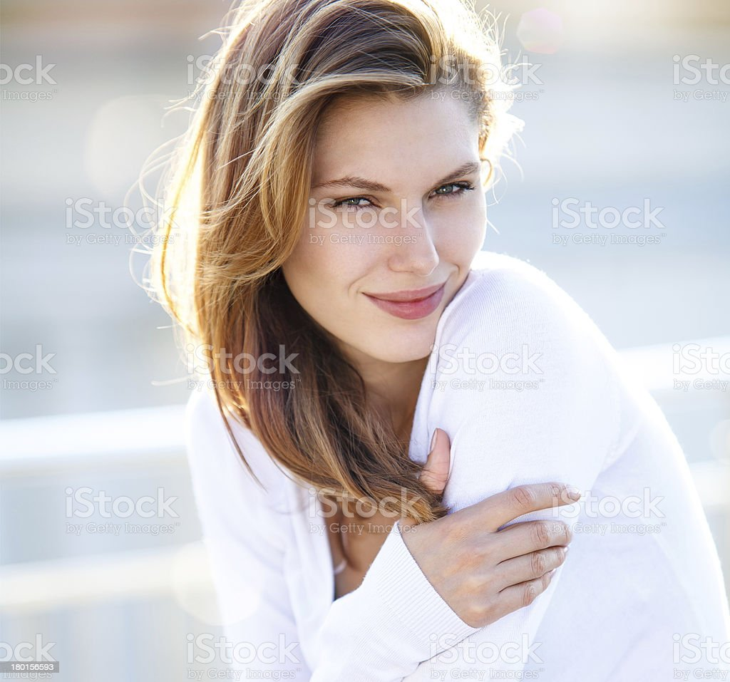 Hot Girls Wearing Sweaters stock photo
