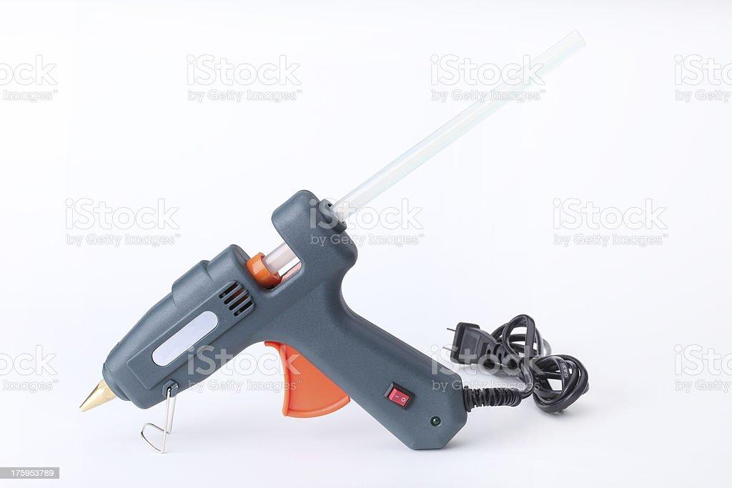 Hot glue gun isolated on white stock photo