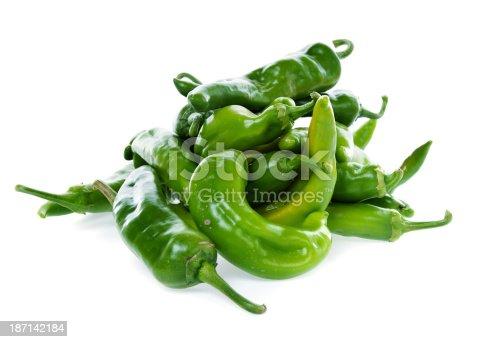 Hot Green Chili Peppers from New Mexico