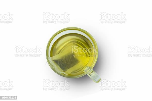 Tè Verde Caldo Su Sfondo Bianco - Fotografie stock e altre immagini di Alimentazione sana