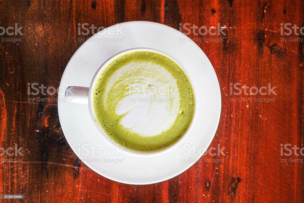 hot green tea stock photo
