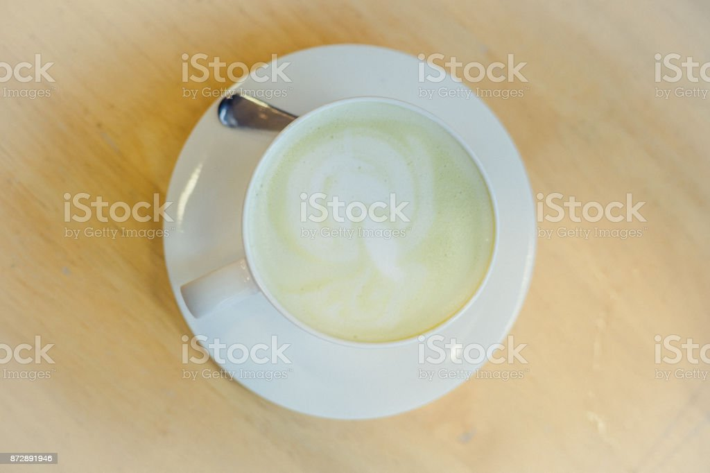 hot green tea stock photo