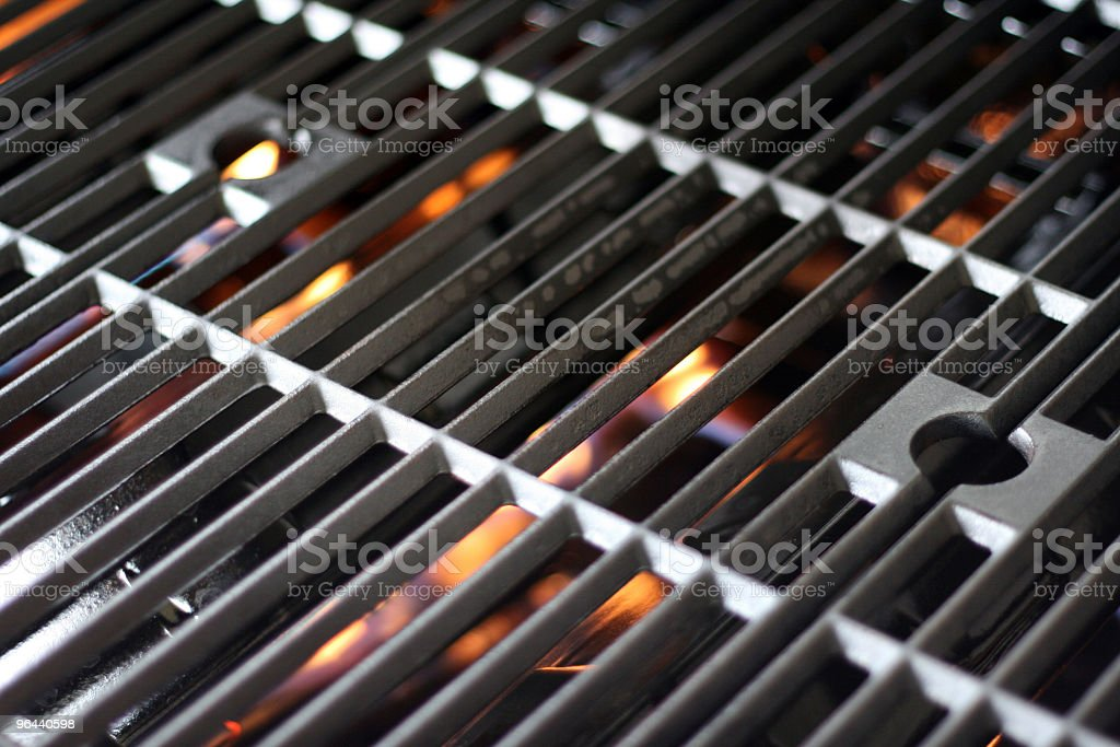 Hot Grill and Fire stock photo