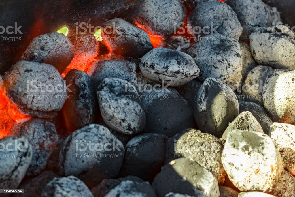 Hot grill coal royalty-free stock photo