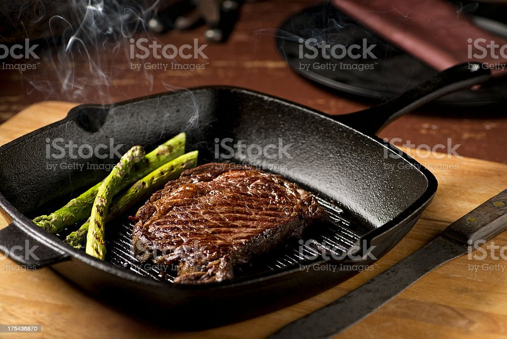 Hot Grilled Steak - XXXL stock photo