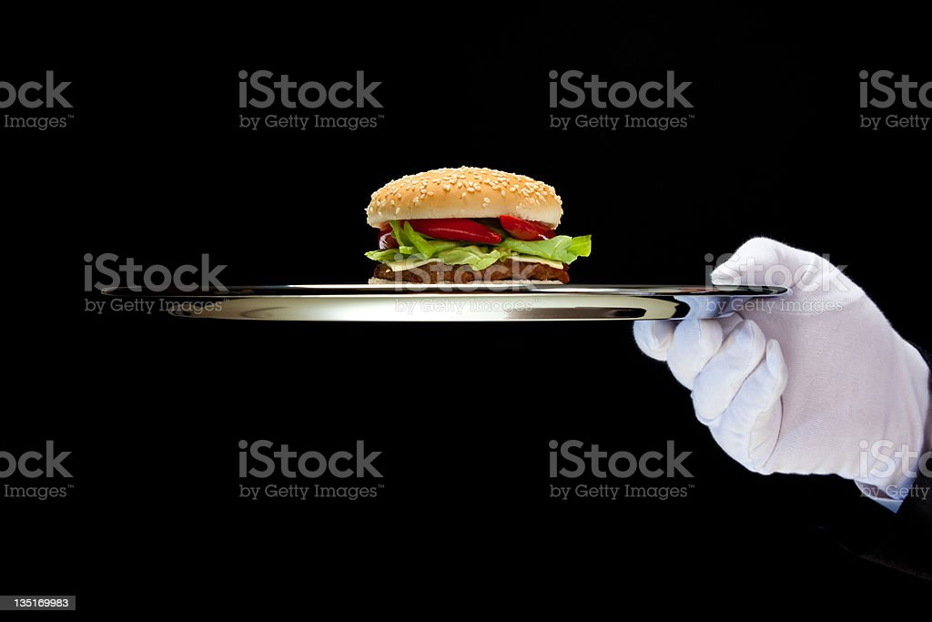 Hot Hamburger royalty-free stock photo