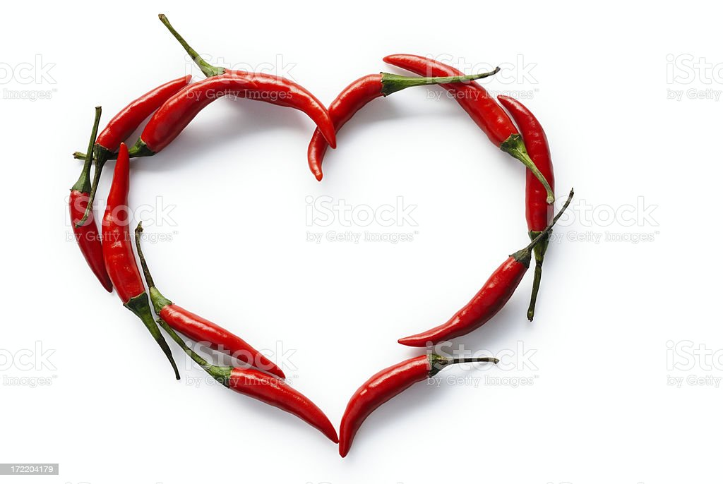 Hot heart royalty-free stock photo