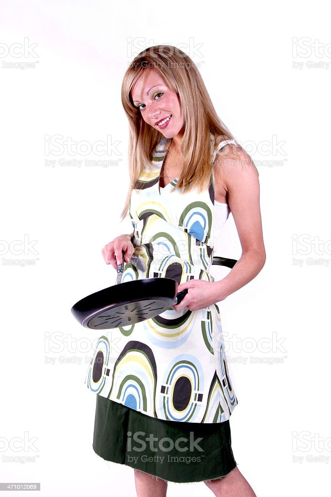Hot Housewife: Cooking. royalty-free stock photo