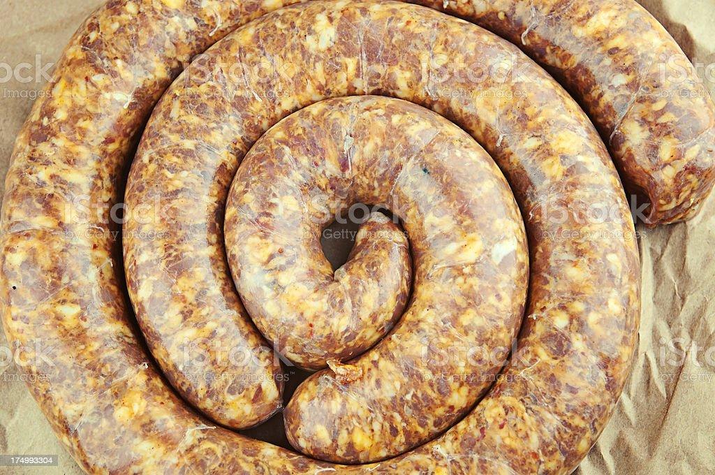 Hot Italian Sausage royalty-free stock photo