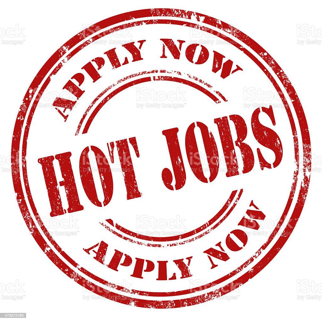 Hot Jobs-stamp stock photo