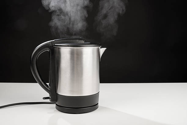 Hot kettle stock photo