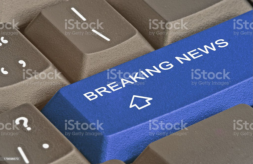 Hot key for breaking news royalty-free stock photo