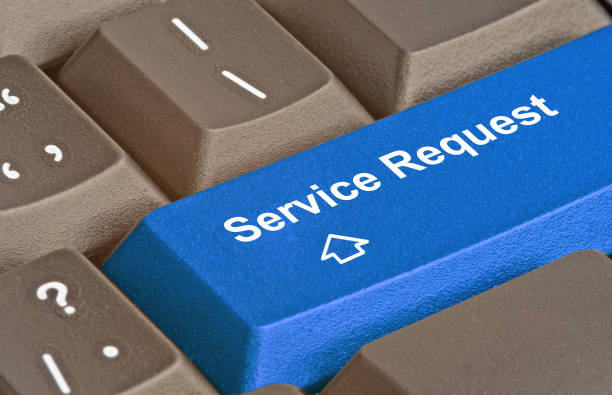 Cтоковое фото Hot key for service request