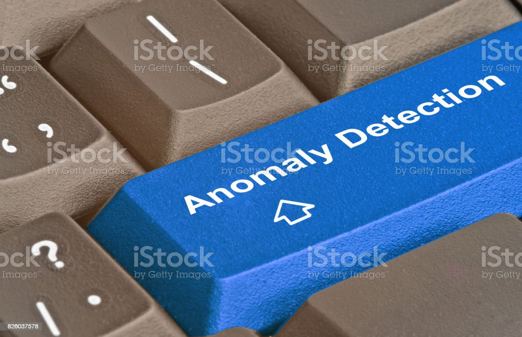 hot keys for  Anomaly Detection - Royalty-free Blue Stock Photo