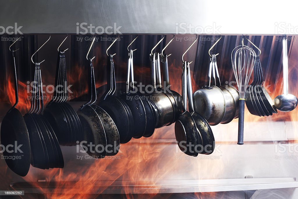 Hot Kitchen royalty-free stock photo