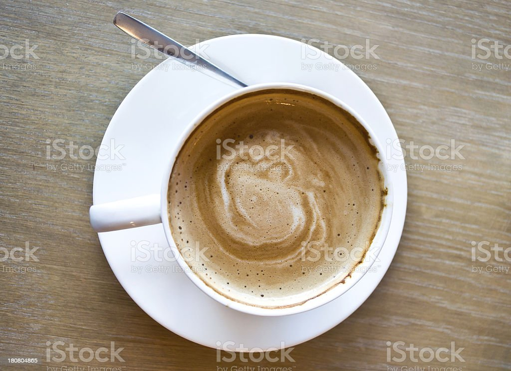 Hot latte coffee royalty-free stock photo
