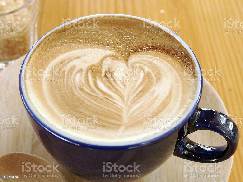 Hot Latte royalty-free stock photo