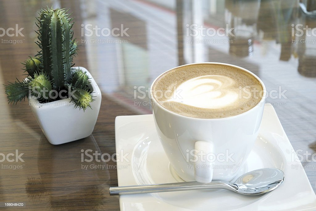 Hot Latte royalty-free stock photo