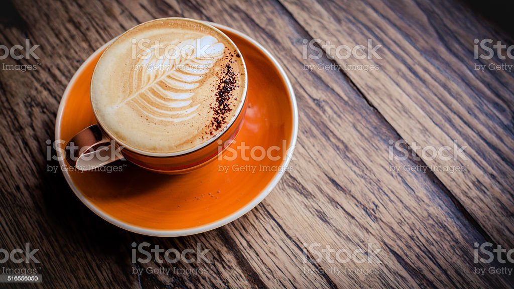 Hot latte stock photo