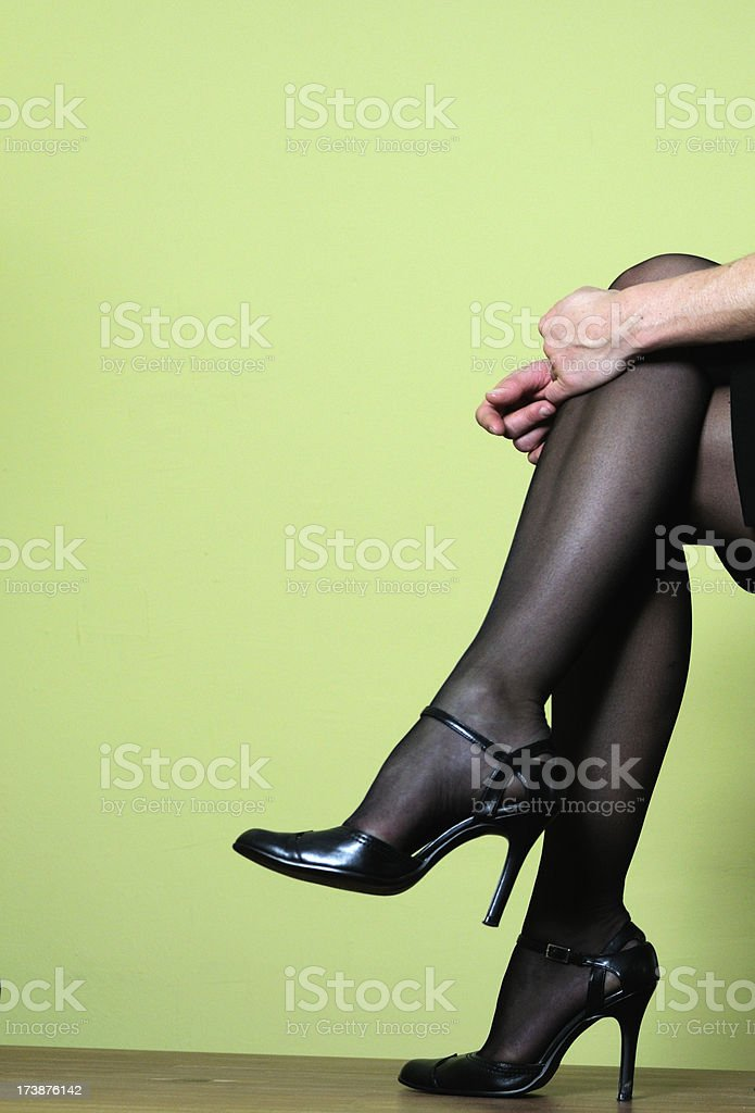 hot legs in stockings royalty-free stock photo