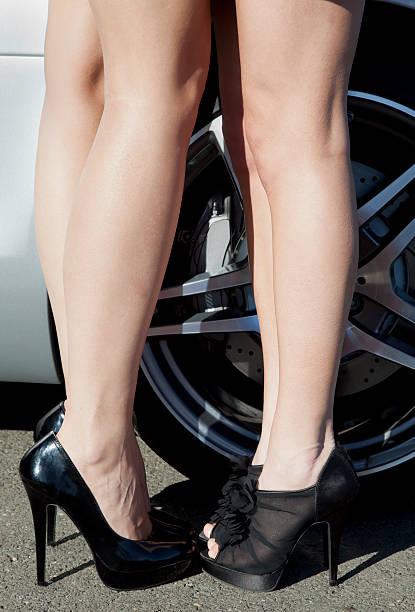 hot le gambe - seduzione foto e immagini stock