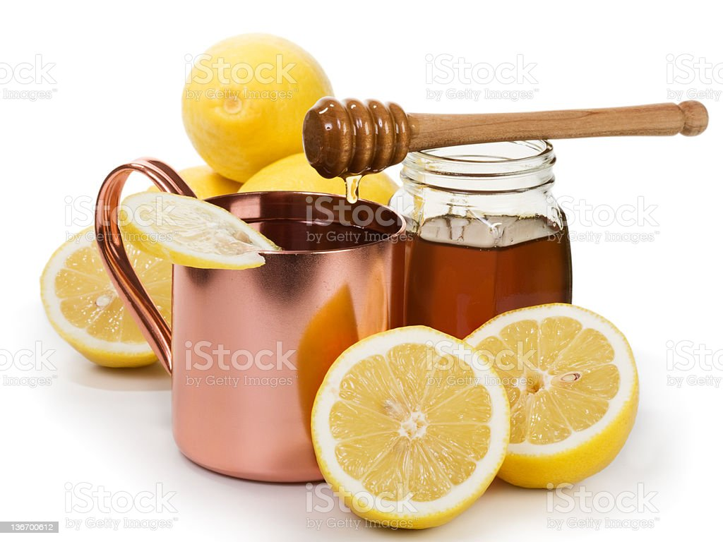 Hot Lemon Drink royalty-free stock photo