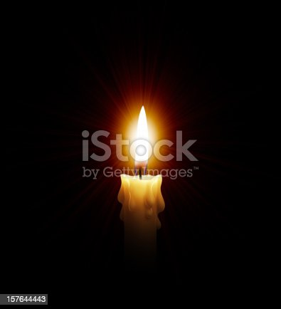 istock Hot Light Of Candle 157644443