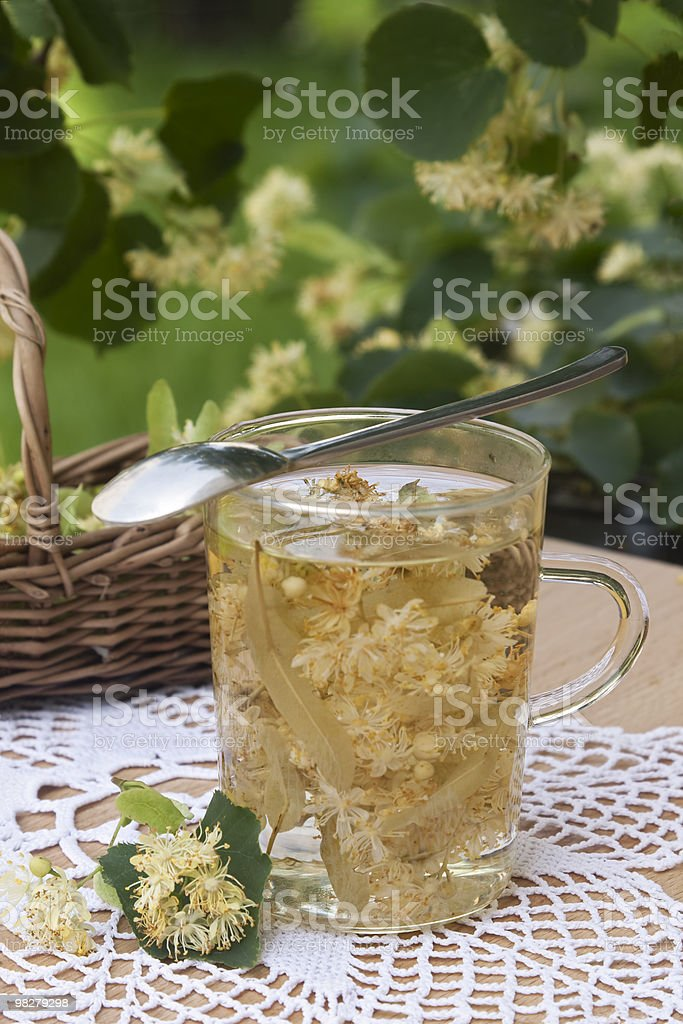 Hot lime tea royalty-free stock photo