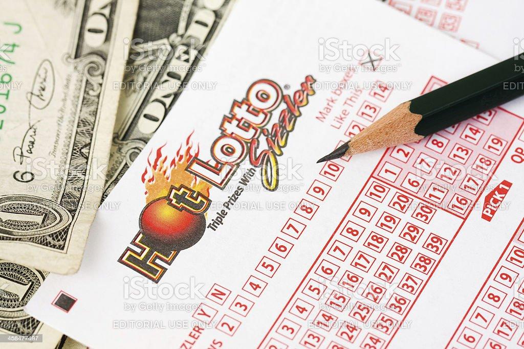 Hot Lotto stock photo